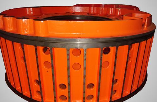 1.5MW直驱风电产品发电机定子球铁铸件