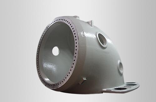 2.5MW直驱风电产品机架球铁铸件