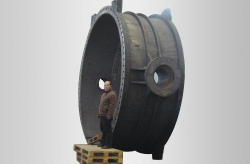 φ4000阀体球铁铸件